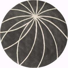 Hand-tufted Escalade Iron Ore Floral Wool Rug (8' Round) | Overstock.com Shopping - Great Deals on Round/Oval/Square