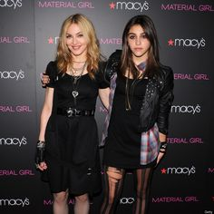 """Madonna Madonna, 53, with daughter Lourdes Leon. Madonna has three younger children as well, and """"regularly [reminds them] how fortunate they are to have the things they do and [encourages] them to share."""""""
