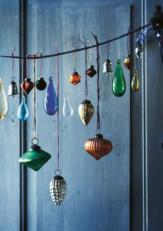 No tree? No problem- display pretty ornaments anywhere for a festive touch!