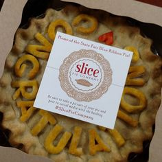 Celebrating today with #slicepiecompany! #yum