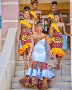 2020 Inspirational African Fashion Styles That Are Classic For Latest Ovation Styles in Vogue African Print Wedding Dress, African Bridesmaid Dresses, African Wedding Attire, Latest African Fashion Dresses, African Dresses For Women, African Print Fashion, African Attire, African Weddings, Ankara Fashion