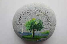 Greetings from Ireland-Pebble Seascape by PebbleAndMosaic on Etsy 55x50mm