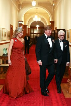Queen Maxima Photos Photos - King Willem-Alexander and Queen Maxima of the Netherlands arrive during a state dinner at Government House on November 7, 2016 in Wellington, New Zealand. The Dutch King and Queen are on a three day visit to New Zealand, making stops in Wellington, Christchurch and Auckland. - King Willem-Alexander and Queen Maxima of The Netherlands Visit New Zealand