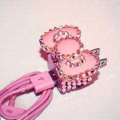 Um why is this not my iPhone charger?! I need to get a pink one and bling it out. :)
