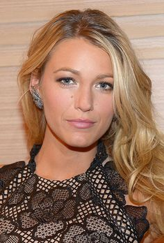 Blake Lively Big Bling Sterling Silver Cuff Earrings