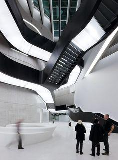 Zaha Hadid architecture,cool building, interiors, lighting, public space