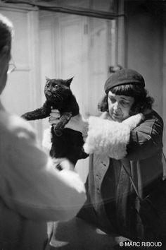 Paris, 1953, Marc Riboud. Hee hee...poor kitty.