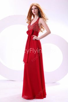 fancyflyingfox.com Offers High Quality Fashionable V-Neckline Halter A-line Floor Length Plus Size Prom Dresses  ,Priced At Only US$189.00 (Free Shipping)