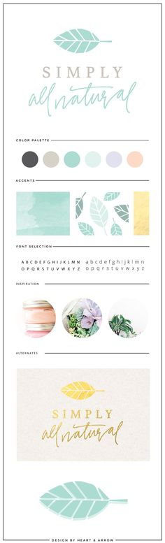 Organic logo design and brand board // by Heart & Arrow