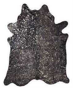 Cowhide - Dark Grey and Bronze Metallic