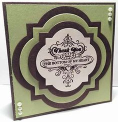 Just A Thought... Cards by Amy stampin up. great use of the window framelits and stamp