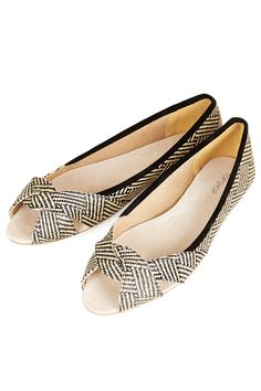 Hamper Woven Peep Shoes - Top Shop