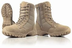 New Wellco T109 US Army Desert Tan Hot Weather Side Zipper Combat Boot-SZ 9 W