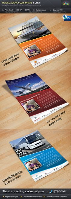 Travel Agency Corporate Flyer - Corporate Flyers Download here: https://graphicriver.net/item/travel-agency-corporate-flyer/2060435?ref=classicdesignp