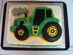 tractor sheet cakes   John Deere Tractor Cake