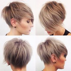 Razored Pixie With Uneven Layers