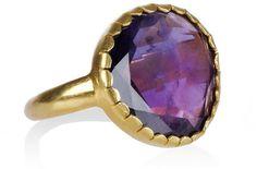 18-Karat Gold Amethyst Ring