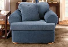 Sure Fit Slipcovers Stretch Stripe Separate Seat T-Cushion - Chair T-cushion