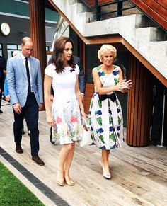 Duchess Kate: Kate in White Catherine Walker Floral Dress for Wimbledon Final!