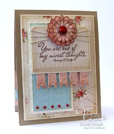 Card by Sarah Gough using Verve Stamps.  #vervestamps