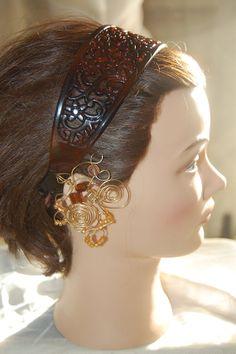 Beaded Swirl Wire Earcuff Gypsy Head by Ramblinrose67 on Etsy, $8.00