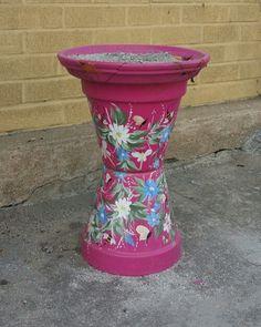 Flower pot cigarette butt stand