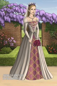 Rapunzel Wedding ~ by Beanie ~ created using the Tudors doll maker   DollDivine.com