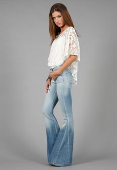 Backstage Boho Top and bell bottoms