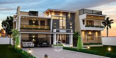 บ้านหรูทรงหน้ากว้าง ตกแต่งภายในด้วยปูนเปลือย ในโทนสีสดใส | NaiBann.com