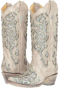 Creme Tall Western Boot with Vibrant Multi Color Flowers