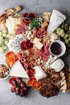How to Put Together A Great Cheese Charcuterie Board — Cooking with Cocktail Rings entertaining cheese and charcuterie spread from cooking with cocktail rings Charcuterie Spread, Charcuterie Plate, Charcuterie Recipes, Charcuterie And Cheese Board, Cheese Boards, Charcuterie Quotes, Party Food Platters, Cheese Platters, Best Cheese