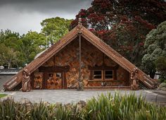 The centrepiece of Te Noho Kotahitanga marae is the magnificent wharenui whare whakairo carved meeting house the first for nearly a century that has been created in the. Maori Designs, Maori Art, Tree Carving, Kiwiana, She Sheds, Traditional Fashion, New Zealand, Architecture, House Styles