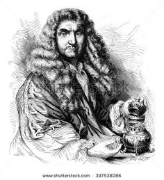 Jean Chabert, perfumer in Lyon, in the seventeenth century, vintage engraved illustration. Magasin Pittoresque 1867.
