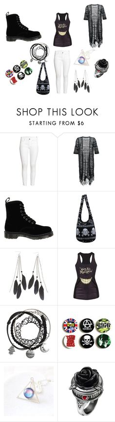 """'We're all mad here'"" by scarliecb ❤ liked on Polyvore featuring H&M, Guild Prime, Dr. Martens and Charlotte Russe"