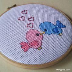 Love Birds Free Cross Stitch Pattern