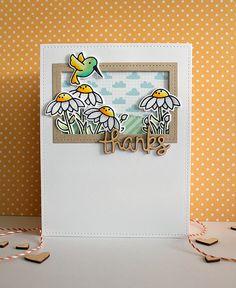 gleeful gardens card with lizzy