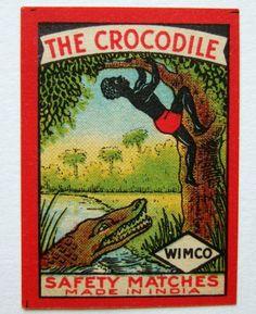 The Crocodile (India) Matchbox