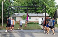 Monkey bars used to be easy...even pull-ups! I want to do this again, like a kid!