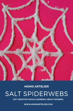 Salt Spiderwebs - Stem Activities, Toddler Activities, Salt Watercolor, Crafts To Make, Crafts For Kids, Types Of Learners, Learning Spaces, Have Some Fun, Fine Motor Skills