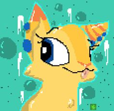 Much liek @JamesPotter1565i have made a lil pixel thinf of Kish!! this is a gift…