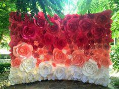 Flores 3D no cenário do jardim