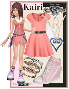 nerdyfashionblog: Kairi | Kingdom Hearts II - Inspired Set by chelsealauren10 In light of the recent news of KH3, I thought this was appropriate!