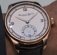"""IWC Watches Portugieser Hand-Wound Eight Days Edition """"75th Anniversary"""" Watch Hands-On - on aBlogtoWatch.com """"For SIHH 2015, IWC has drawn upon its rich history to celebrate the 75th anniversary of the Portugieser with a new limited edition model - the IWC Portugieser Hand-Wound Eight Days Edition 75th Anniversary. This stunningly beautiful and vintage-inspired Portugieser offers not only IWC's requisite 8-day power reserve but also your choice of rose gold or steel..."""" #SIHHABTW"""