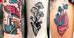 Fungi tattoos maybe are a little weird but they look cool!