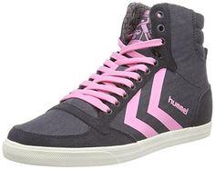 hummel HUMMEL SS WAXED HERRINGBONE HI, Unisex-Erwachsene Hohe Sneakers, Grau (Nine Iron 2358), 36 EU