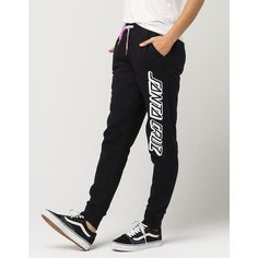 Santa Cruz Classic Womens Sweatpants ($32) ❤ liked on Polyvore featuring activewear, activewear pants, cuffed sweatpants, cuff sweat pants, santa cruz skateboards, sweat pants and cotton sweatpants