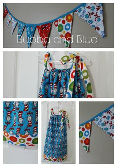 Free sewing tutorial for birthday dress and banner