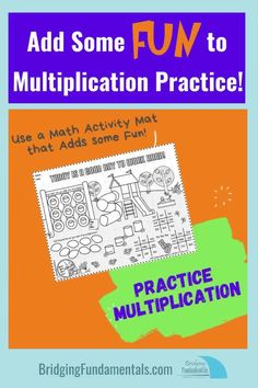 This school year was your child working on learning math facts such as his addition facts or multiplication facts? Did he master them? Take some time this summer to continue practicing your child's math facts.  Try to add some fun to the math practicing. Learning Multiplication, Teaching Math, Math Games For Kids, Kids Math, Math Tutorials, Addition Facts, Math Practices, Beginning Of The School Year, Math Facts