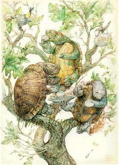 Turtles in a Tree for Tea Artist- Illustrator Omar Rayyan http://www.pinterest.com/source/liveinternet.ru/