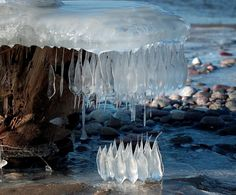 Frozen Droplets of Icicles